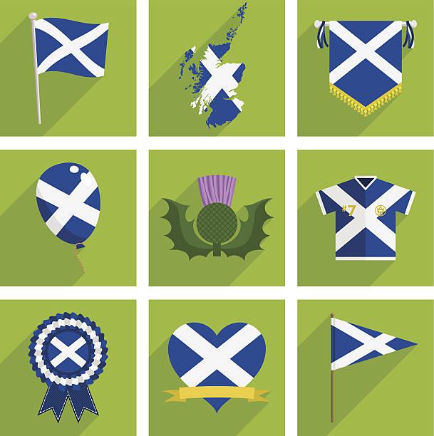 ilustrações de stock, clip art, desenhos animados e ícones de a escócia ícones - balão enfeite