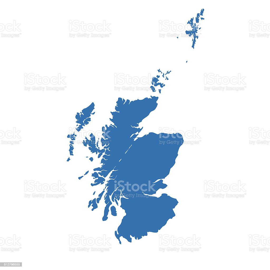 Scotland map vector art illustration
