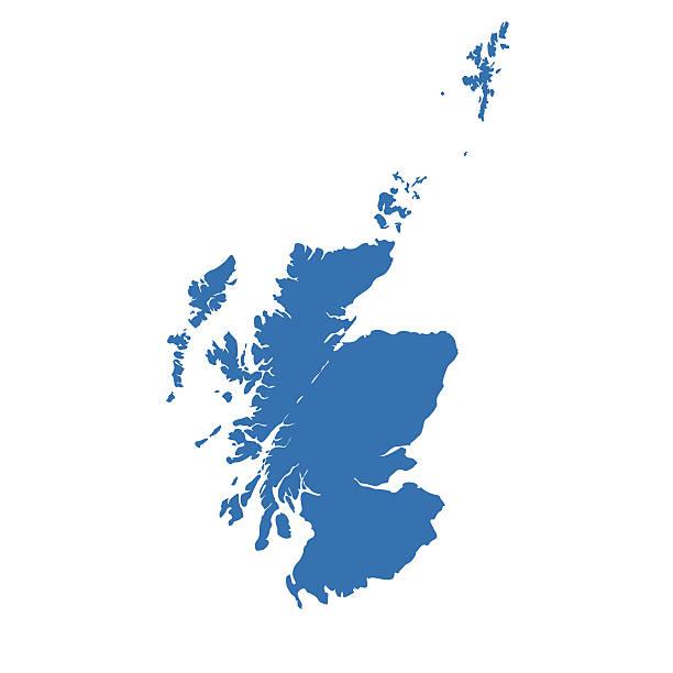 Scotland map Scotland map alba stock illustrations