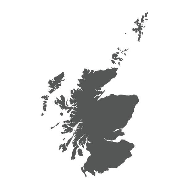 Scotland vector map. Scotland vector map. Black icon on white background. alba stock illustrations