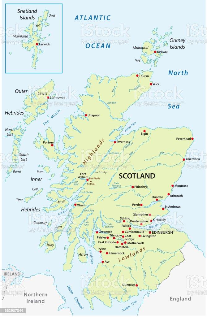 mapa escocia Ilustración de Mapa Del Vector De Escocia y más Vectores Libres de