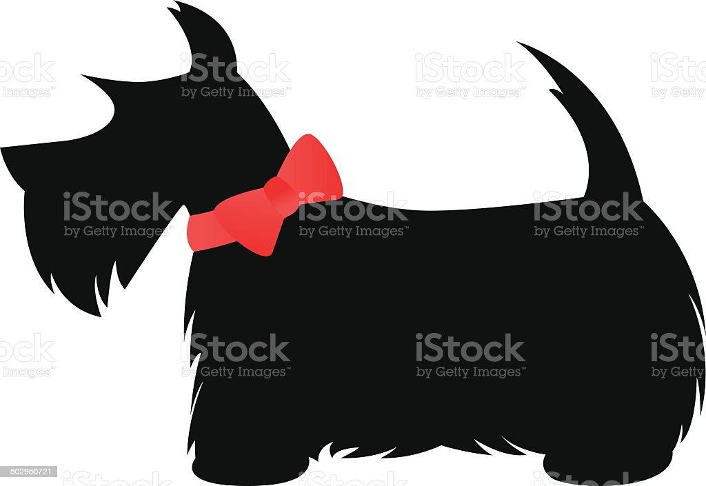 Scottie (Scottish Terrier) vector art illustration