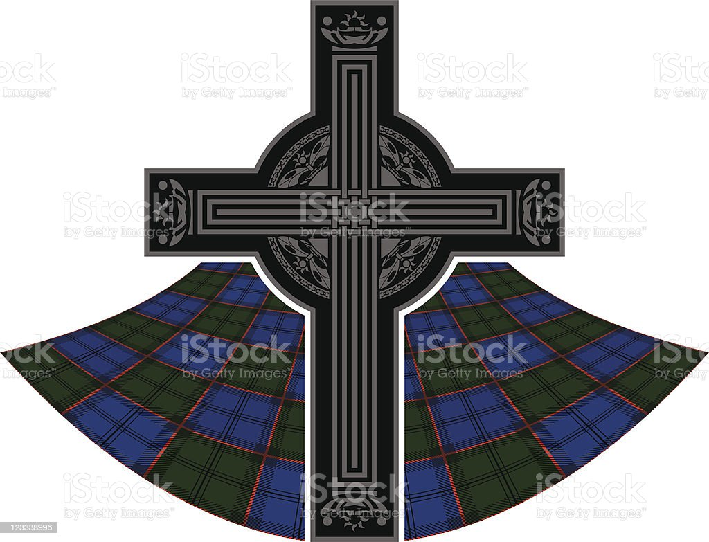 scottish celtic cross royalty-free stock vector art