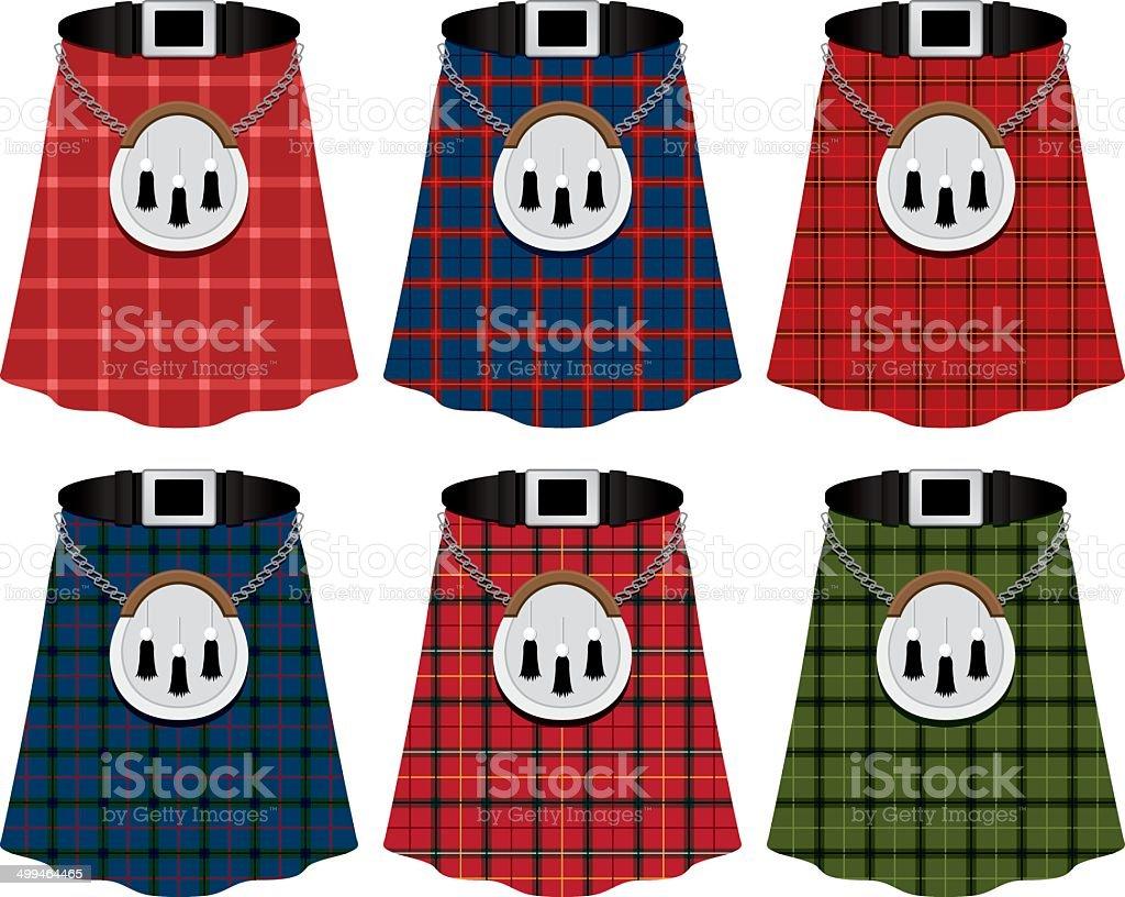 Scottish Kilts Scottish Kilts Armed Forces stock vector
