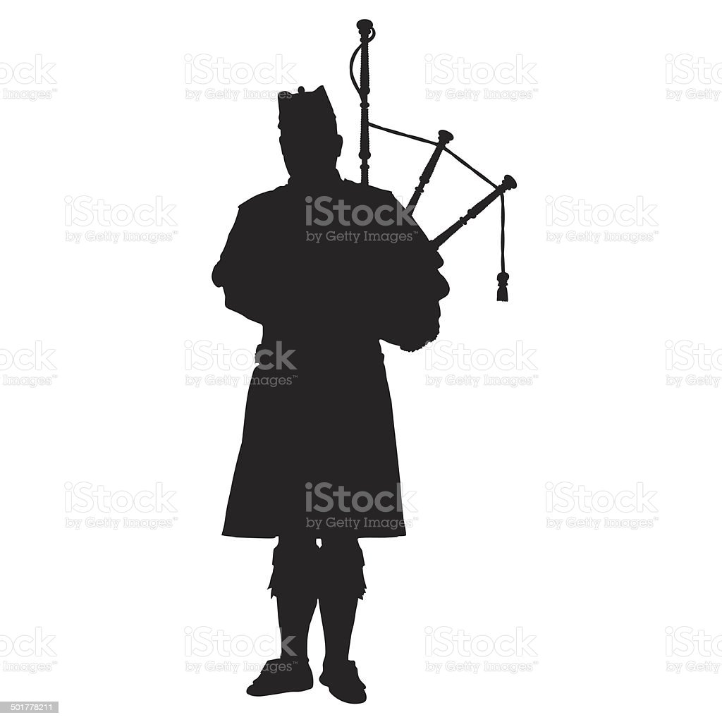 Scottish Piper vector art illustration