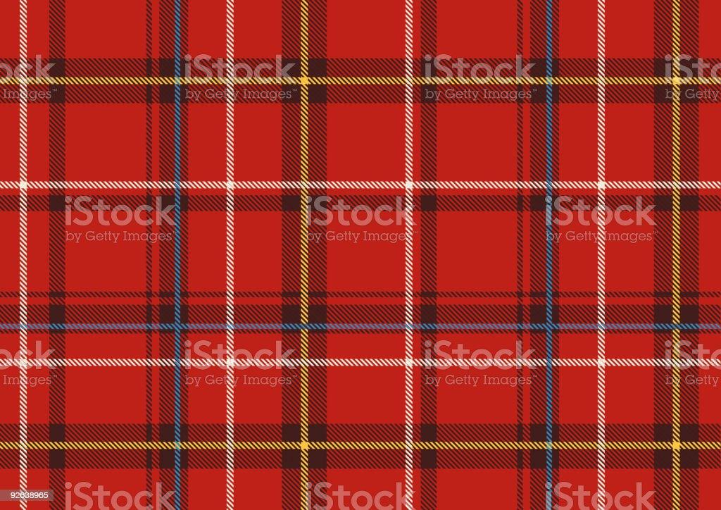 Scottish plaid royalty-free stock vector art