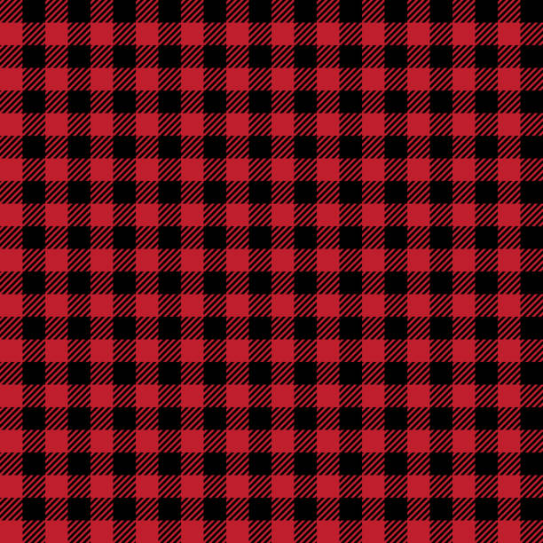 scottish seamless background. vector red and black scottish fabric. - flannel backgrounds stock illustrations, clip art, cartoons, & icons
