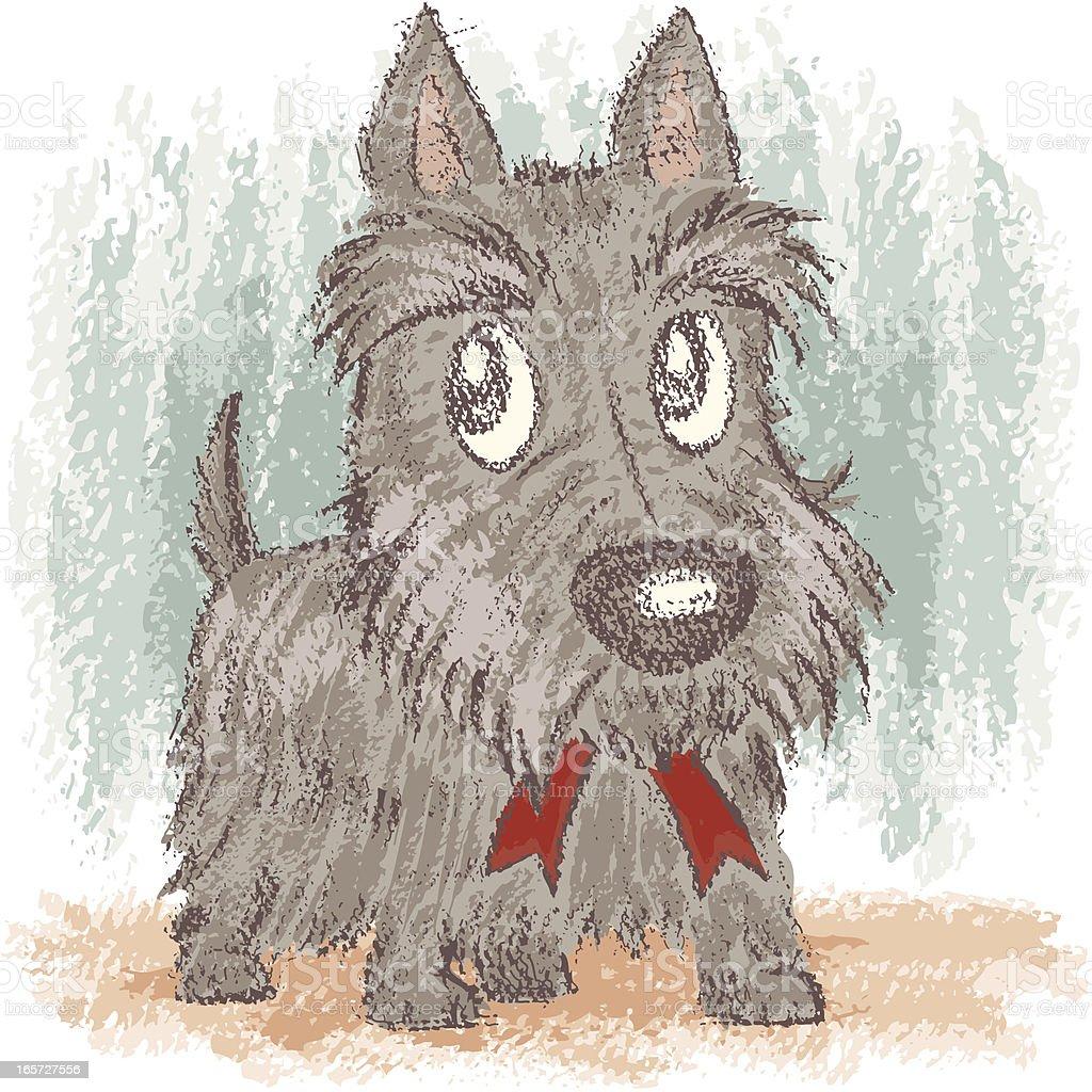 Scottish Terrier royalty-free stock vector art