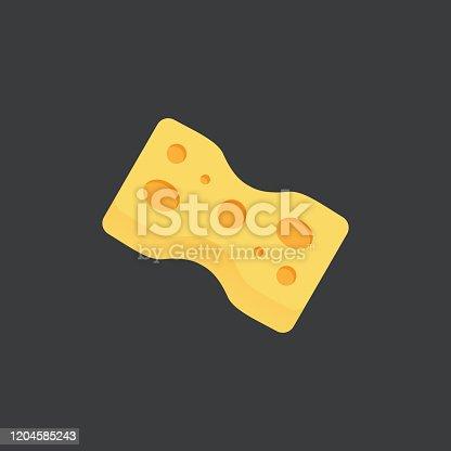 istock Scouring Pad Flat Icon 1204585243