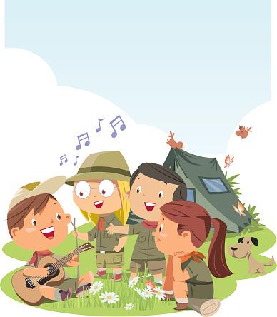Scout children