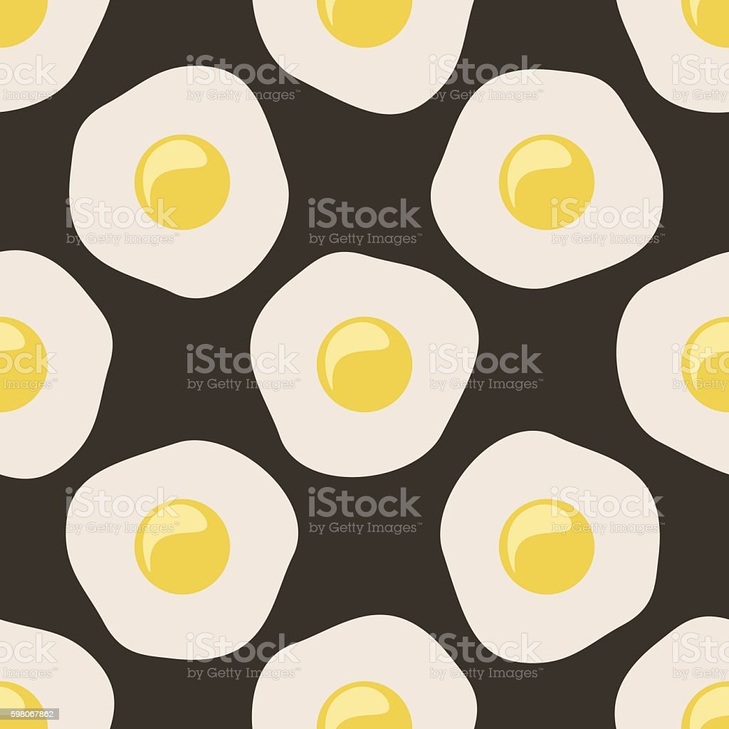 Scrambled eggs vector art illustration