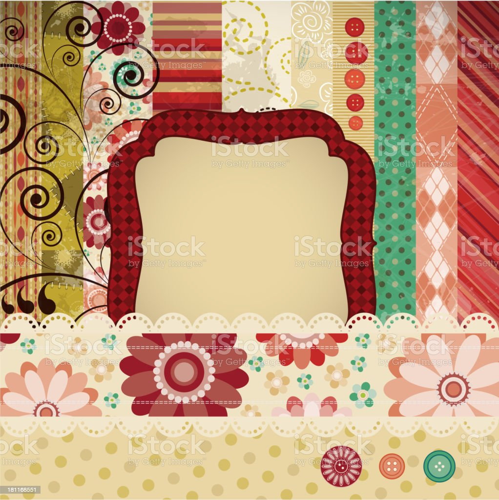 Scrap background made in the classic patchwork royalty-free scrap background made in the classic patchwork stock vector art & more images of abstract