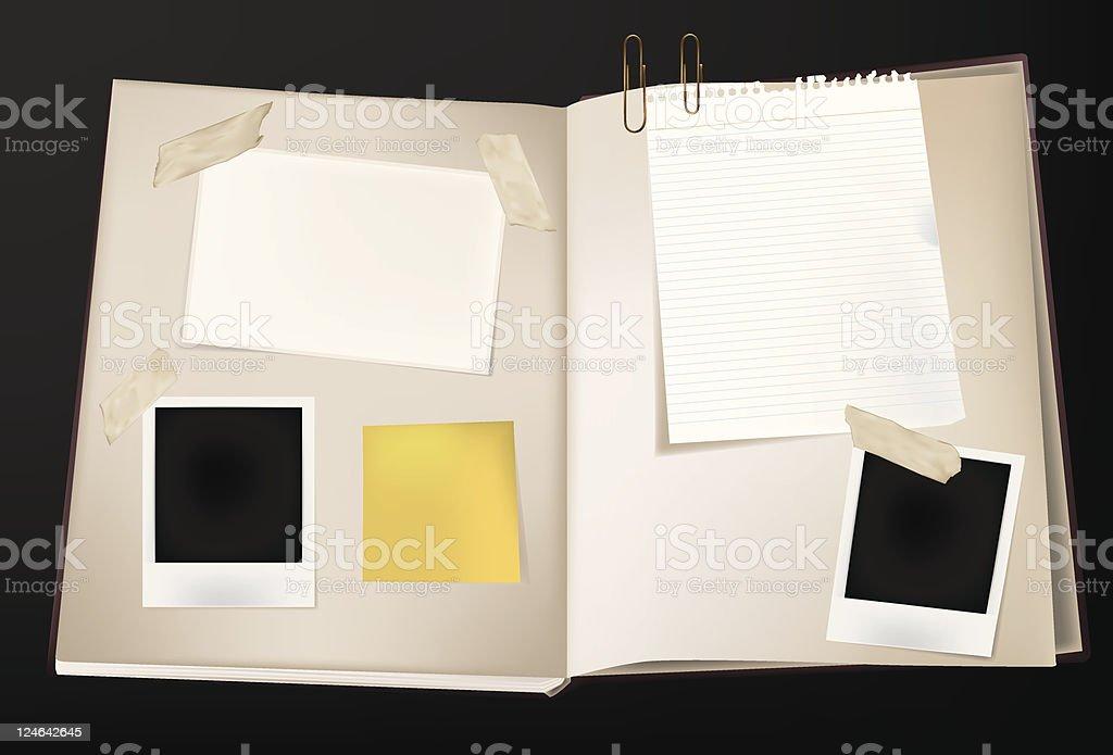 Scrap Book royalty-free stock vector art