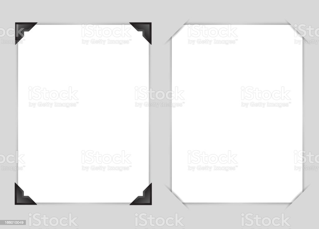 Scrap book with Blank Page vector art illustration