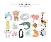 Scrapbook animals vector