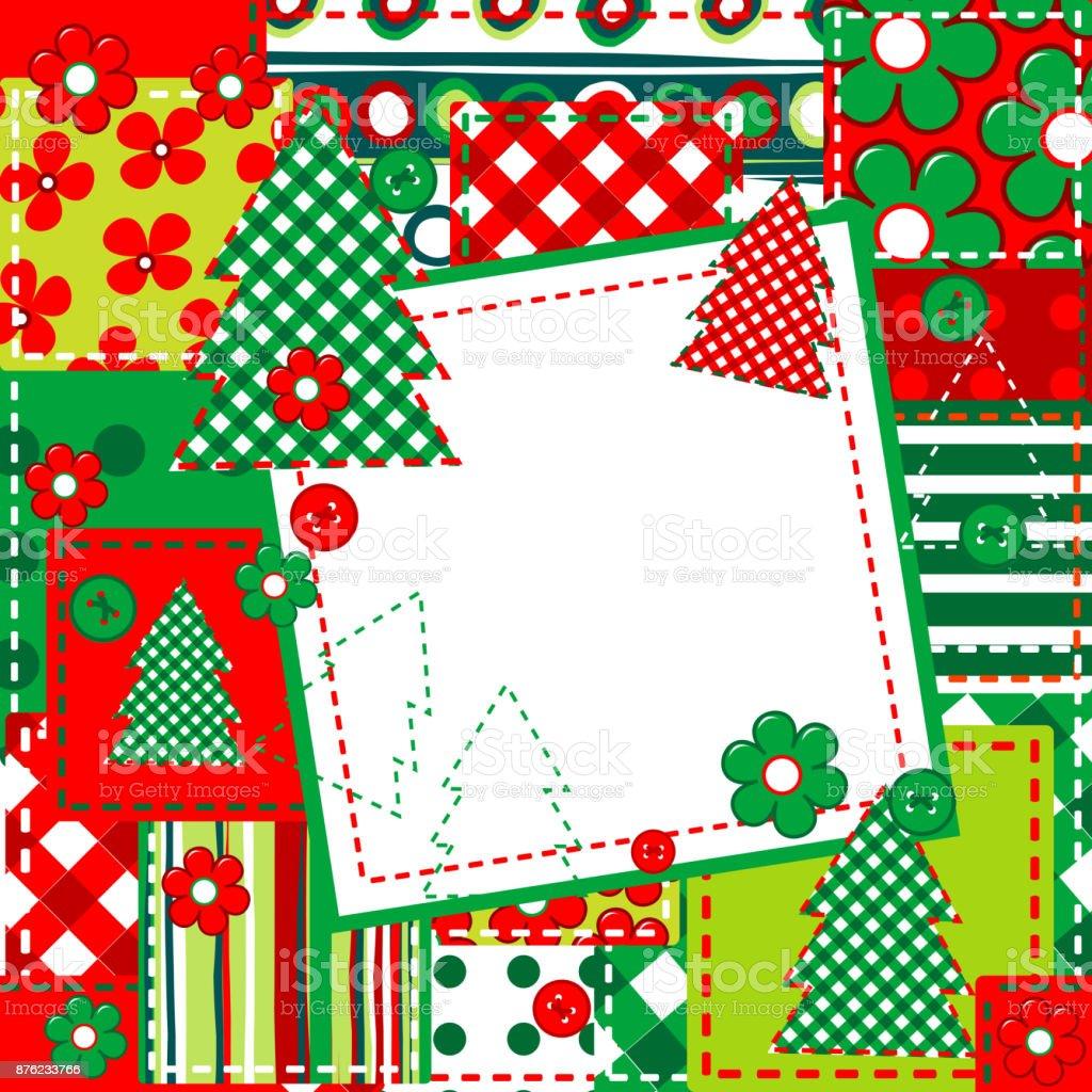 Scrapbookhintergrund Für Weihnachten Stock Vektor Art und mehr ...