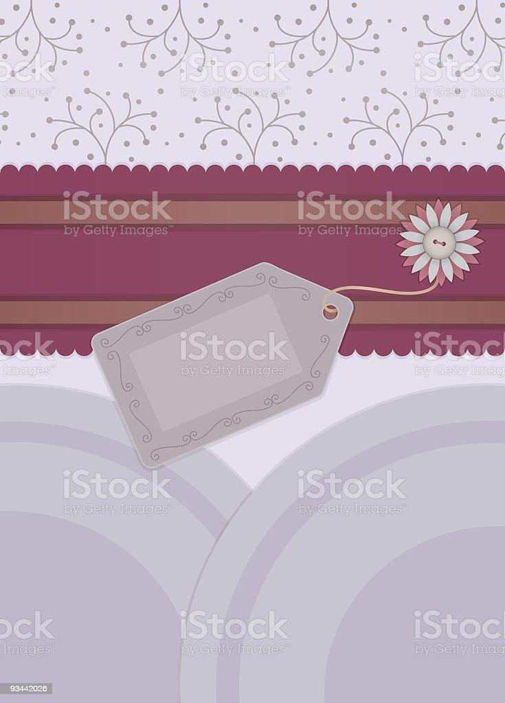 Sammelalbum Grußkarte Grau & Lila Lizenzfreies sammelalbum grußkarte grau lila stock vektor art und mehr bilder von dekoration