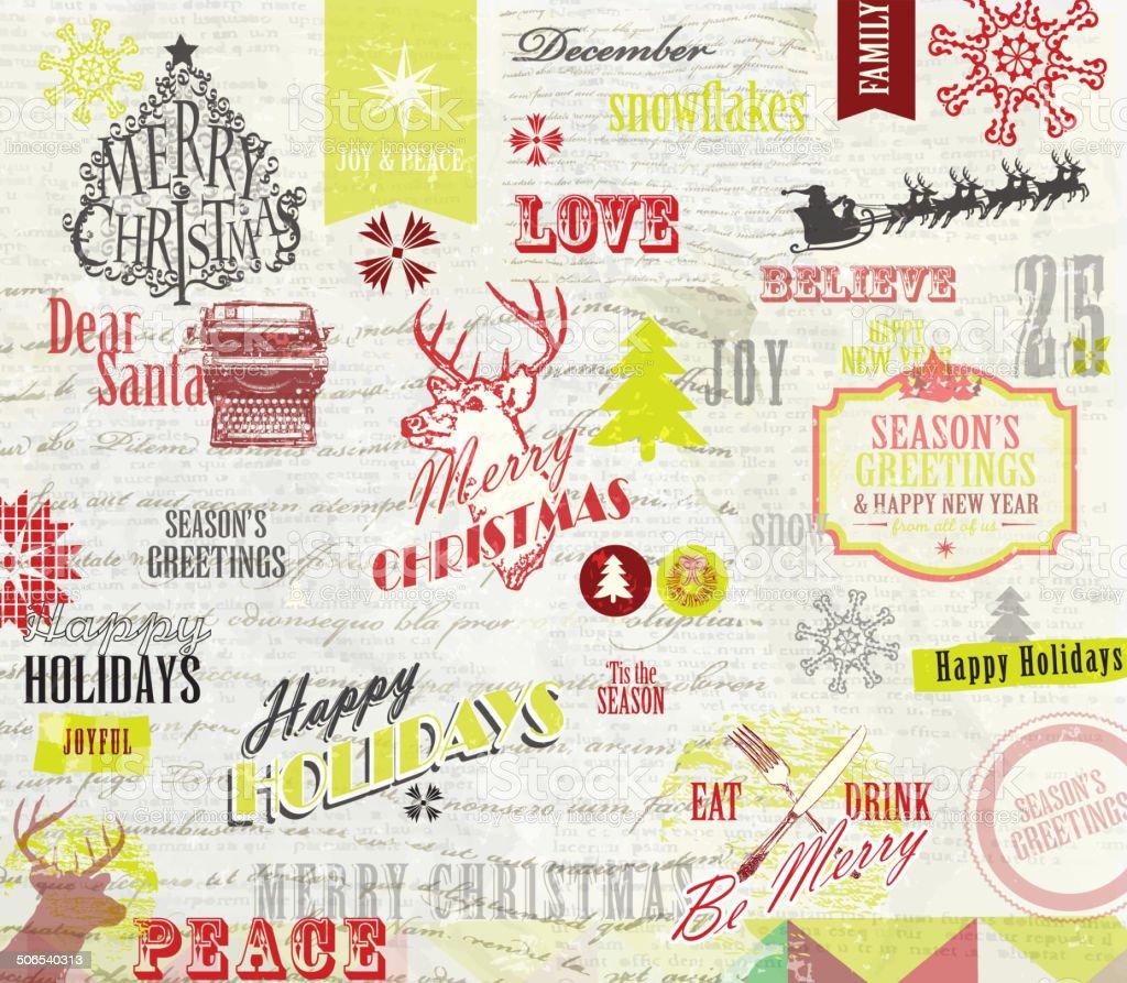 Scrapbook Design Weihnachten Papier Design Mit Verschiedenen Marken ...