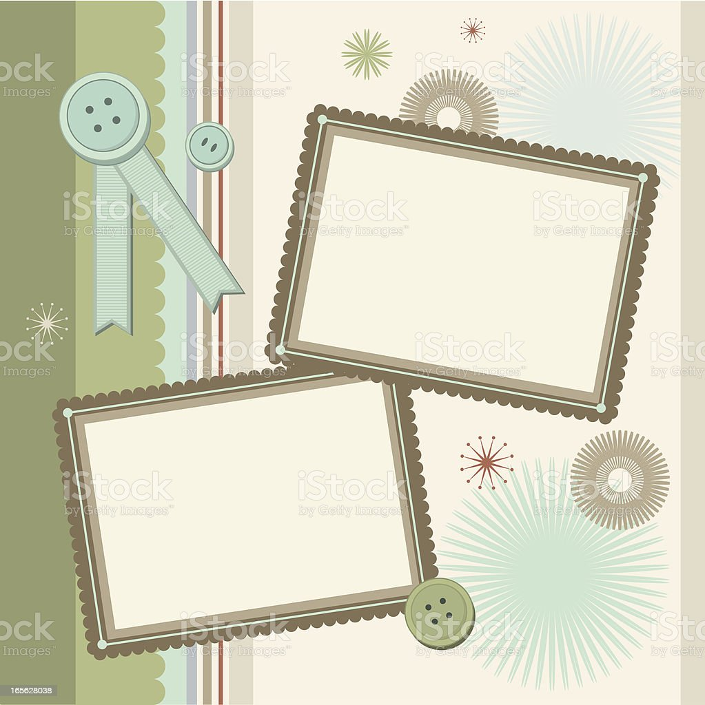 Scrapbook layout royalty-free stock vector art