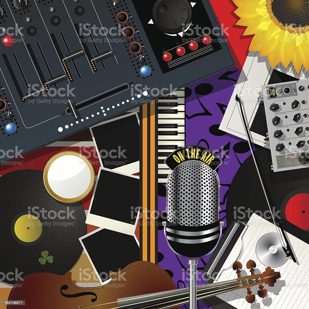 Scrapbook modern music royalty-free stock vector art