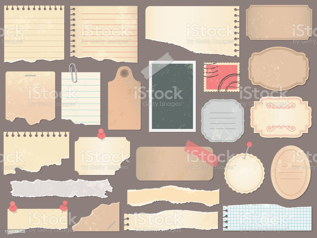Scrapbook papers. Vintage scrapbooking paper, retro scraps pages and...