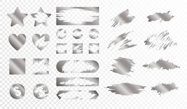Rubscratch-Karte Grunge Textur golden set – Vektorgrafik