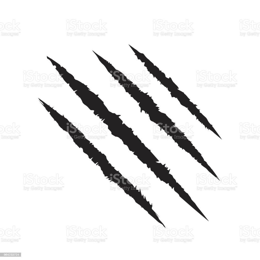 Scratch claws of animal. Tiger claws. Design element. Vector illustration vector art illustration