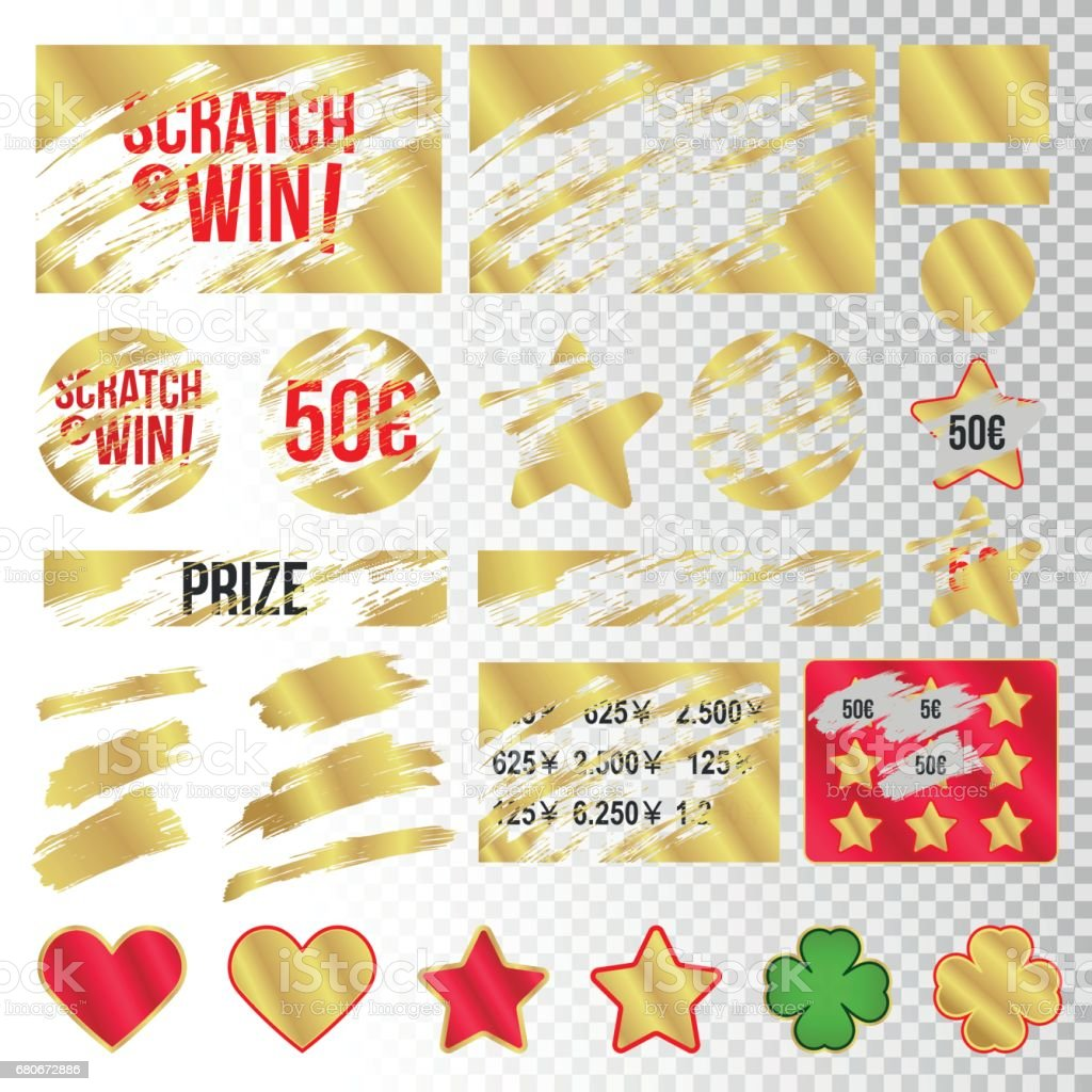 Scratch marks. Suitable for scratch card game and win. vector art illustration