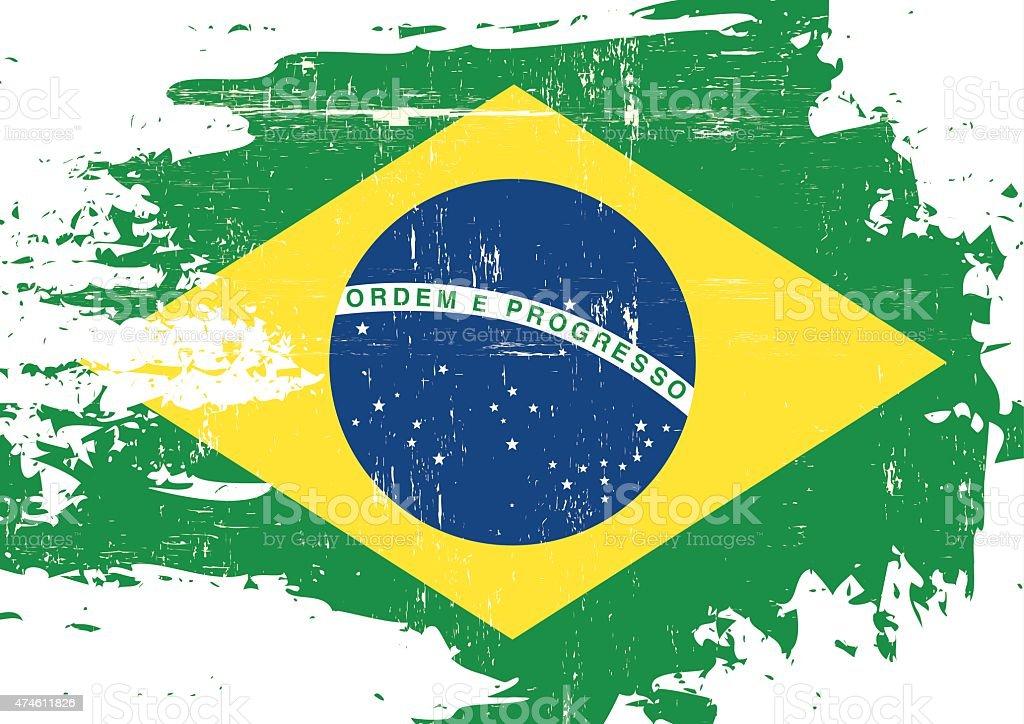 スクラッチブラジルの国旗 ベクターアートイラスト