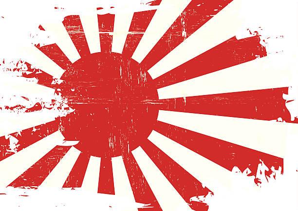 ilustraciones, imágenes clip art, dibujos animados e iconos de stock de rayada bandera de japón guerra - bandera japonesa