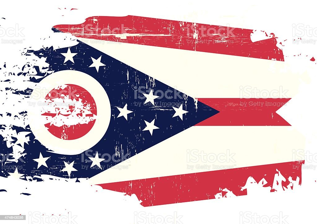 scratched ohio flag stock vector art 474843036 | istock