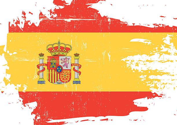 Rayé drapeau espagnol - Illustration vectorielle