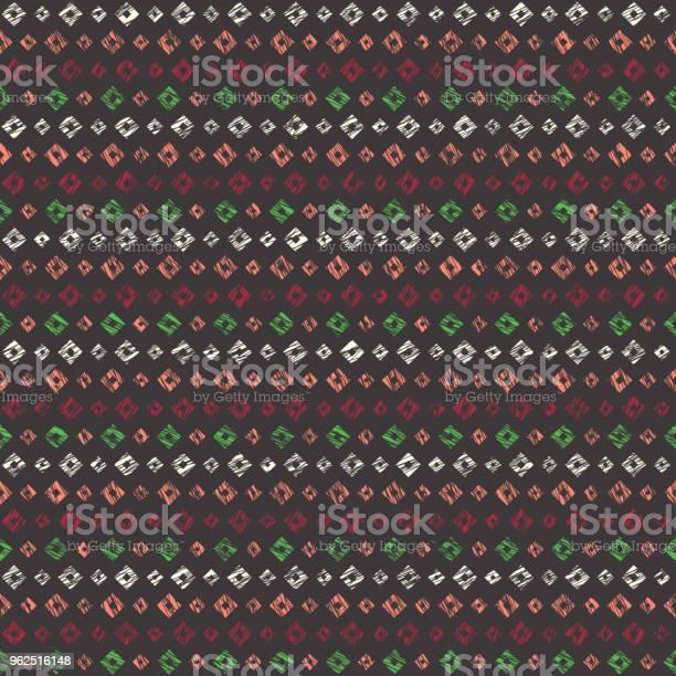 Vetores de Textura Riscada Abstrata Sem Costura Padrão e mais imagens de Abstrato