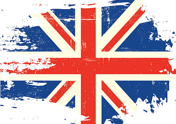 scratched uk flag - union jack flag stock illustrations, clip art, cartoons, & icons