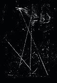 Scratched Vector Background Black 08