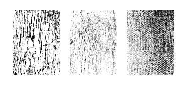 cızırtılı dokular grunge arka planında. vektörel clipart resimler beyaz arka plan üzerinde izole. - wood texture stock illustrations