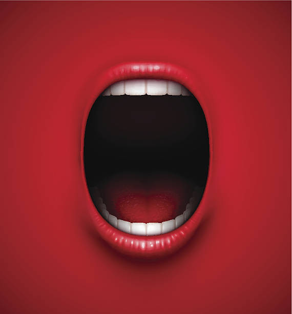 stockillustraties, clipart, cartoons en iconen met scream background - gillen