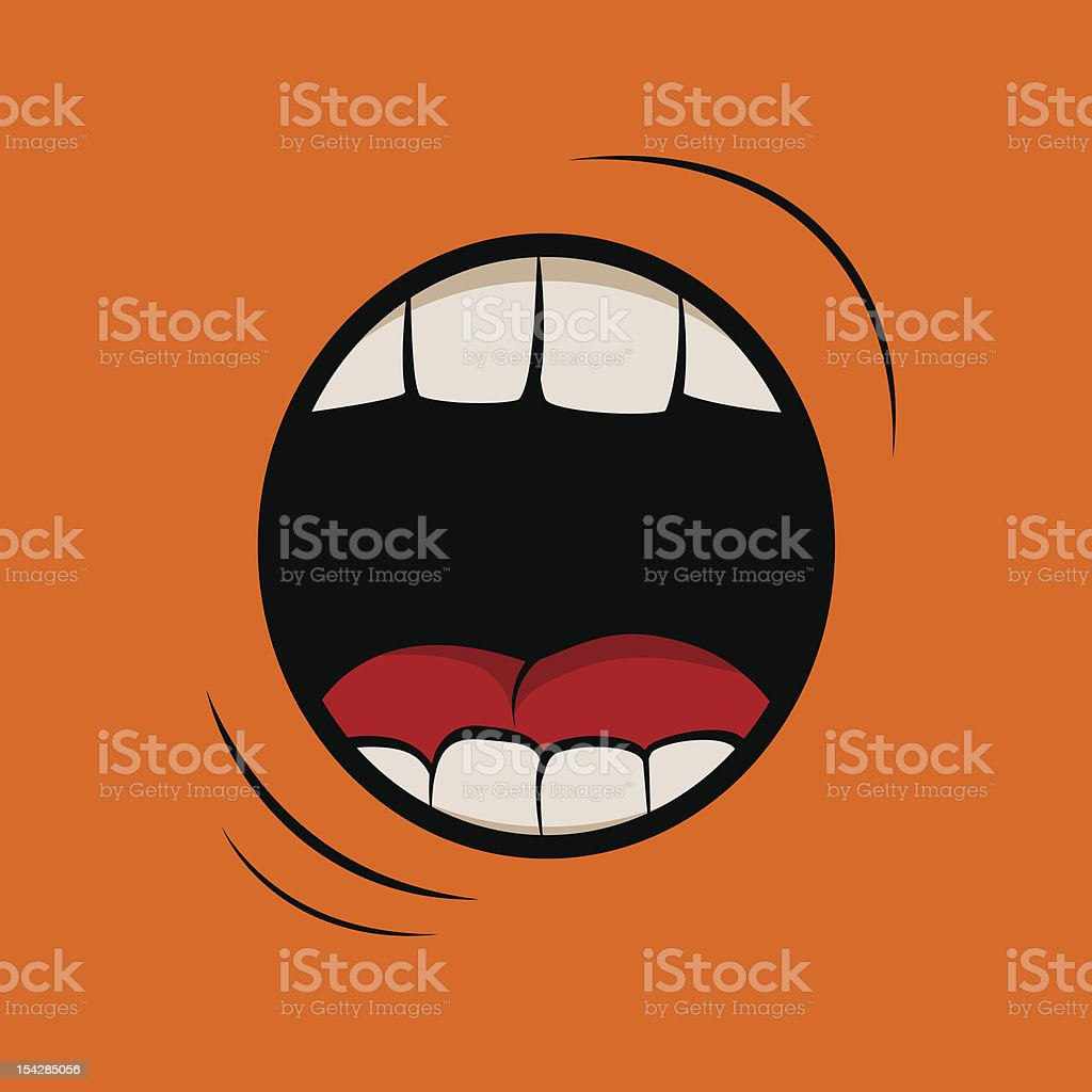Scream vector art illustration