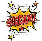 Comic book Scream effect.