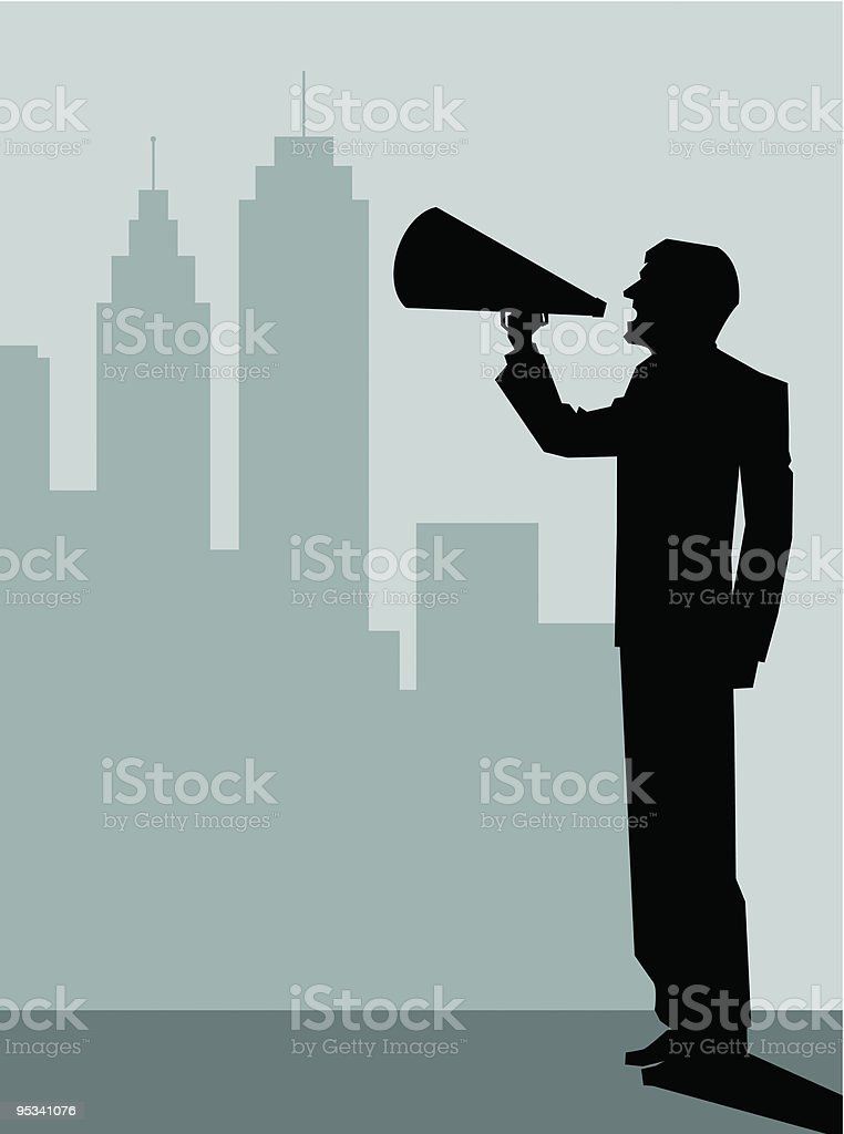 Screaming Businessman Silhouette royalty-free screaming businessman silhouette stock vector art & more images of alertness