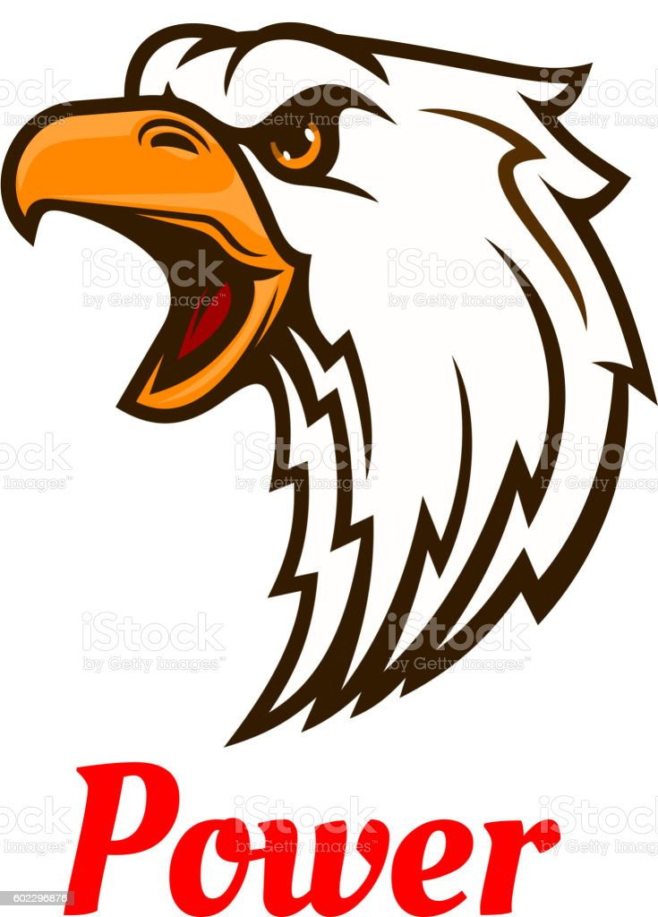 Screaming Eagle Head Symbol For Tattoo Design Stock Vector Art