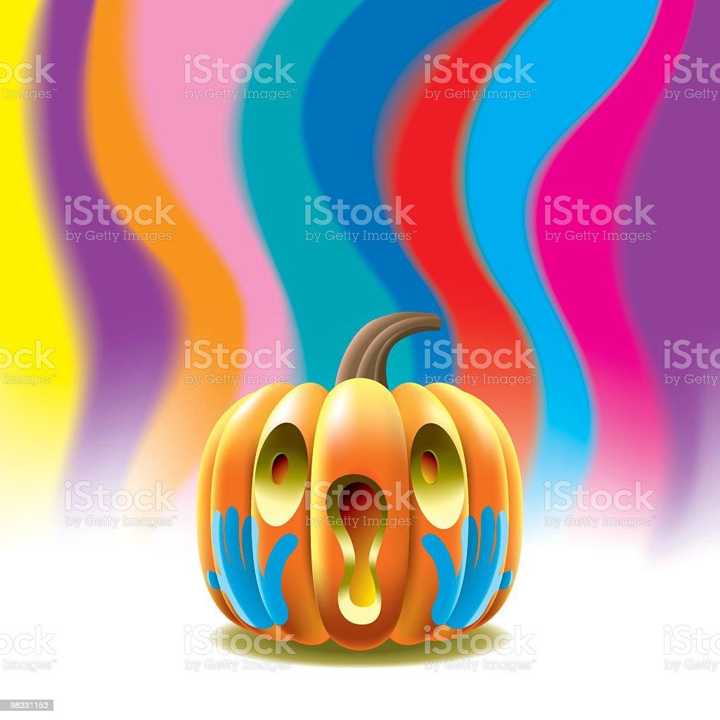 Screaming Pumpkin royalty-free screaming pumpkin stock vector art & more images of art