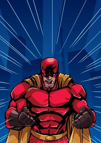 Screaming Superhero Background
