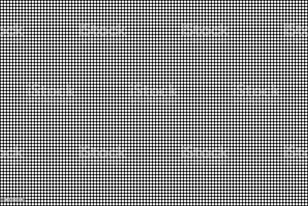RGB Screen dots seamless pattern. Analog display television. Close Up Texture vector art illustration
