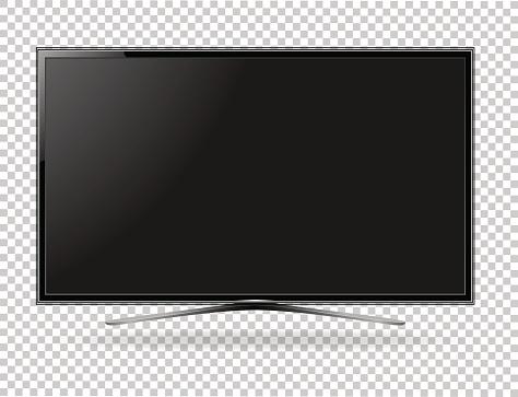 TV screen flat lcd led vector illustration