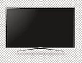istock TV screen flat lcd led vector illustration 844129212