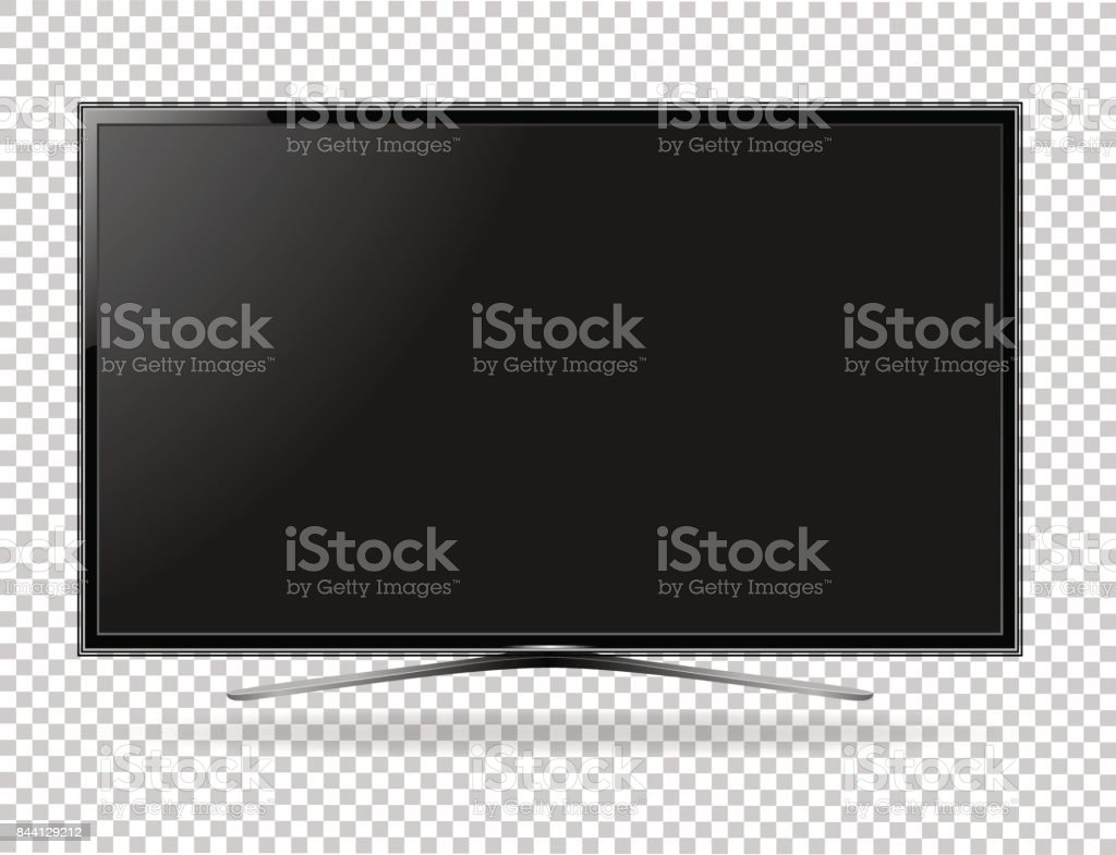 TV screen flat lcd led vector illustration vector art illustration