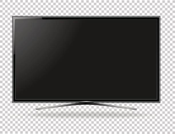 tv bildschirm flach lcd führte vektor-illustration - bildschirme stock-grafiken, -clipart, -cartoons und -symbole