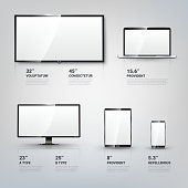 TV screen, Lcd monitor, notebook, tablet computer, mobile phone templates