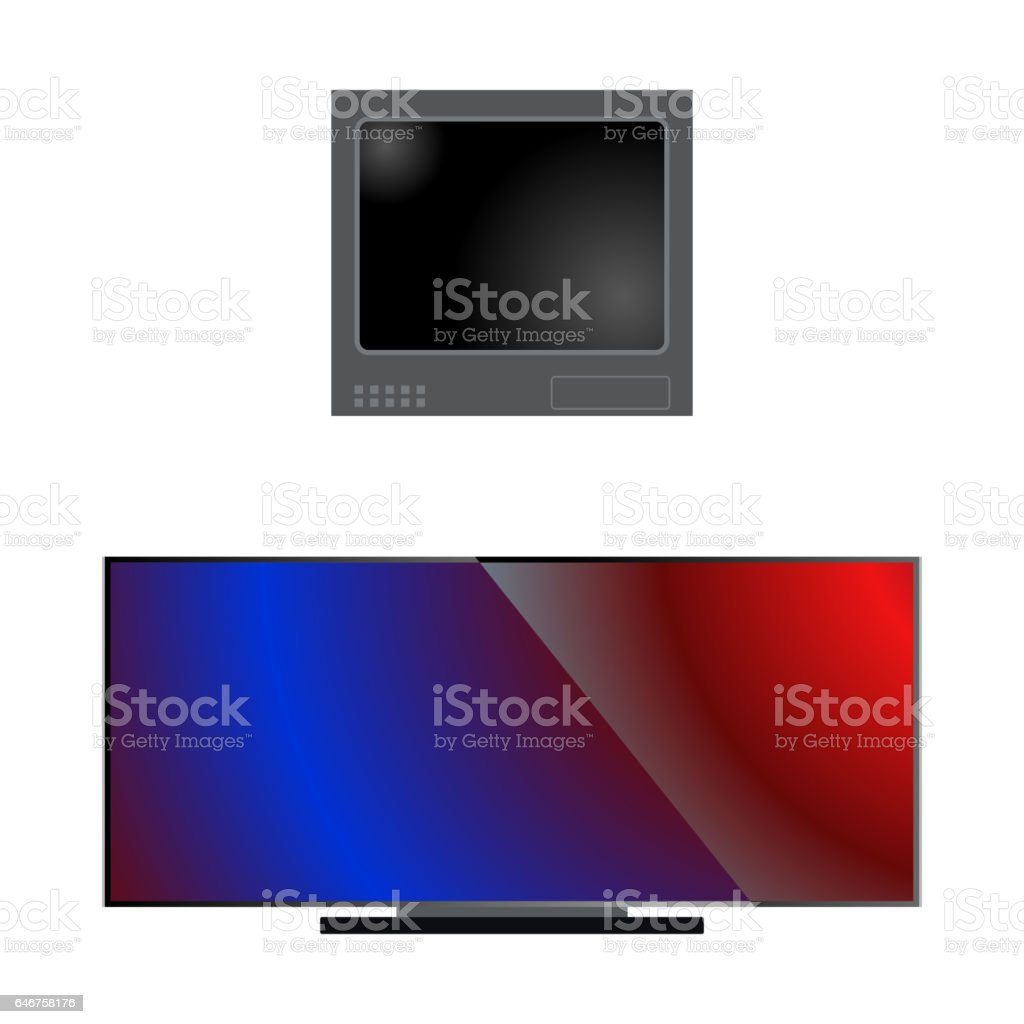 TV screen lcd monitor template electronic device technology digital size diagonal display and video modern plasma home computer vector illustration vector art illustration
